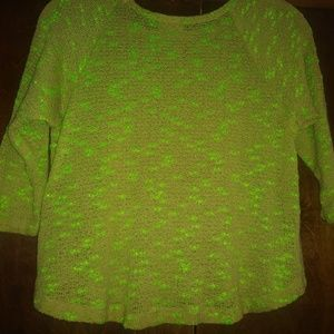 HIP lime green sweater XS